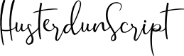 Preview image for HusterdunScript Font