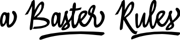 Preview image for A Baster Rules Font