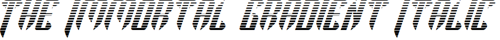 Preview image for The Immortal Gradient Italic