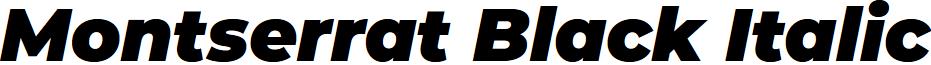 Montserrat Black Italic