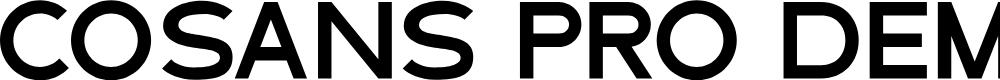 Preview image for Cosans Pro DEMO Font