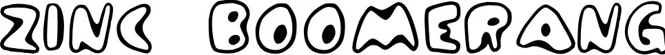 Preview image for Zinc Boomerang Font