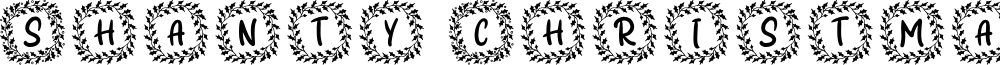 Shanty Christmas Monogram Reg