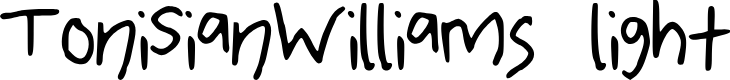 Preview image for ToniSianWilliamsotf Font