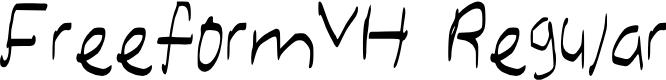 Preview image for FreeformVH Regular Font