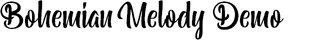 Preview image for Bohemian Melody Demo Font