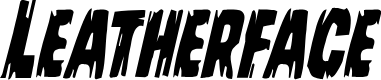 Preview image for Leatherface Condensed Italic