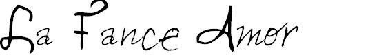 Preview image for La Fance Amor Font