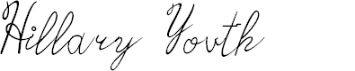 Preview image for Hillary Youth Font