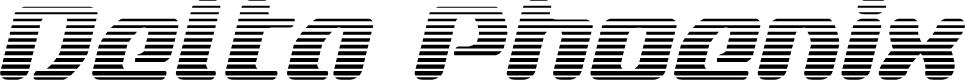 Preview image for Delta Phoenix Gradient Italic