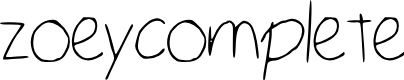 Preview image for zoey_complete Font