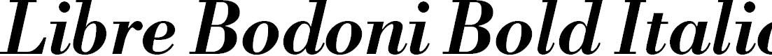 Preview image for Libre Bodoni Bold Italic