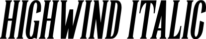 Preview image for Highwind Italic Font