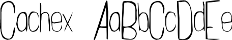 Preview image for Cachex Thin Font