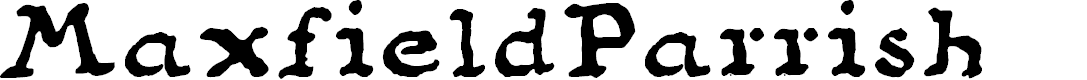 Preview image for MaxfieldParrish140 Font