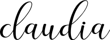 Preview image for claudia Font