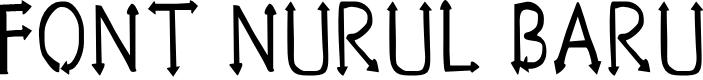 Preview image for Font Nurul Baru Font