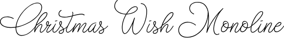 Preview image for Christmas Wish monoline Font