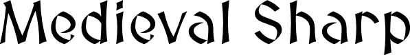 Preview image for Medieval Sharp Font