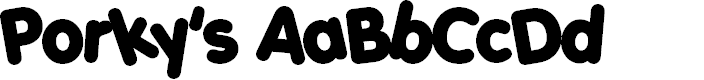 Preview image for Porky's Font