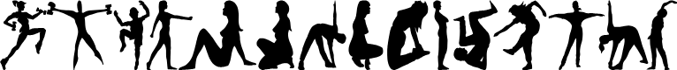 Preview image for FitnessSilhouettes Font