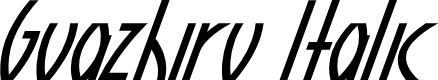 Preview image for Guazhiru Italic