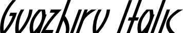 Guazhiru Italic