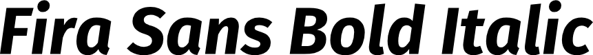 Preview image for Fira Sans Bold Italic
