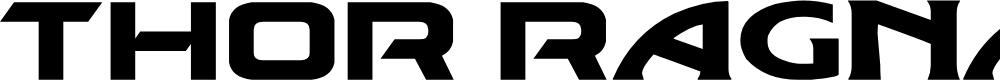 Preview image for THOR Ragnarok Font