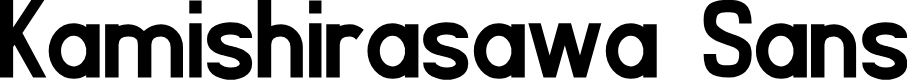 Preview image for Kamishirasawa Sans Font