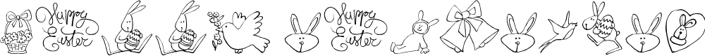 Preview image for HAPPY EASTER_DEMO Font