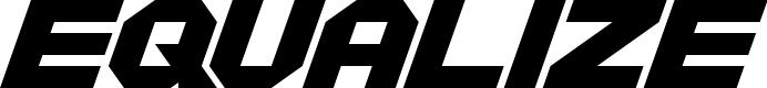 Preview image for Equalize Regular Font