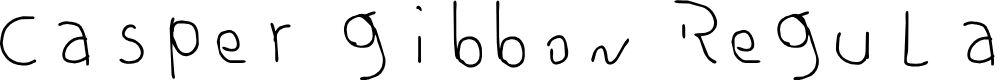 Preview image for casper gibbon Regular Font