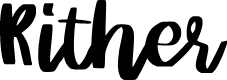 Preview image for Rither Font