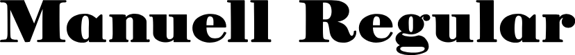 Preview image for Manuell Regular Font