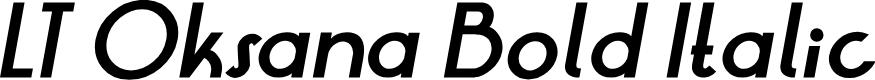 Preview image for LT Oksana Bold Italic