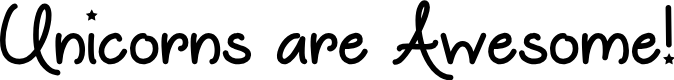 Preview image for Unicorns are Awesome Font