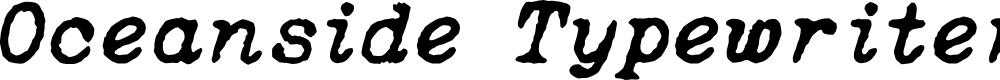 Preview image for Oceanside Typewriter Font