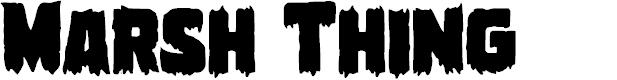 Preview image for Marsh Thing Regular Font