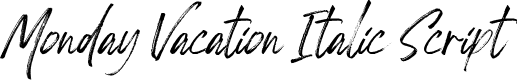 Preview image for Monday Vacation Italic Script Font