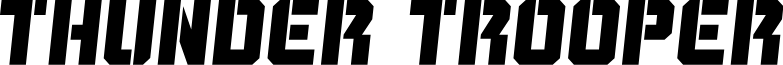 Thunder Trooper Semi-Italic