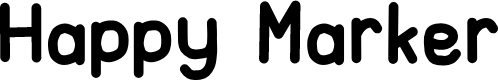 Preview image for Happy Marker Font