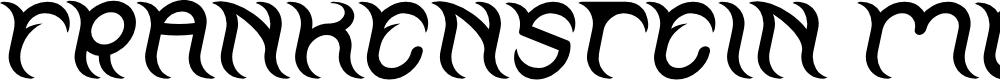 Preview image for FRANKENSTEIN MONSTER Italic