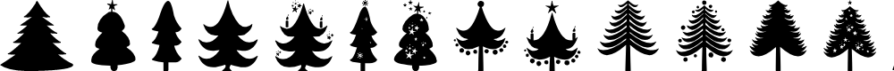 Preview image for Christmas Trees Font