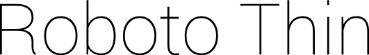 Preview image for Roboto Thin