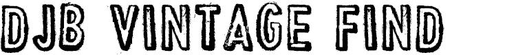 Preview image for DJB Vintage Find Font