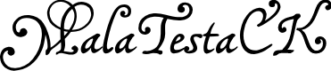 Preview image for MalaTestaCK Font