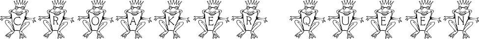 Preview image for LCR Croaker Queen Font