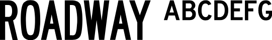 Preview image for Roadway Font