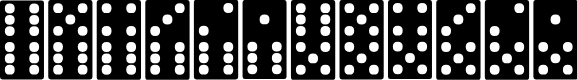 Preview image for Dominoes Font